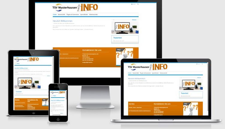 Neue Informationsseite: info.tsv-musterhausen.de